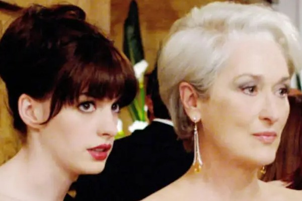 A still of Meryl Streep and Anna Hathaway from the iconic The Devil Wears Prada, that has directly influenced the fashion industry