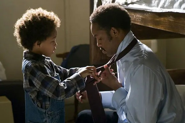 A still from The Pursuit of Happyness