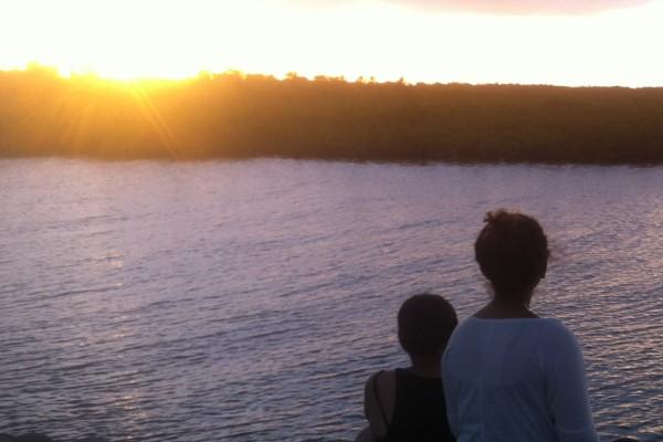 Sunset in Fiji island
