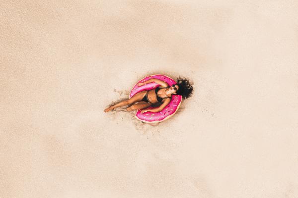 Woman wearing a bikini.