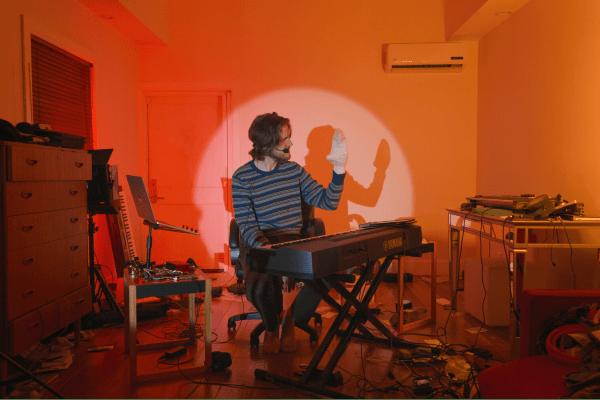 A still from Bo Burnham: Inside.